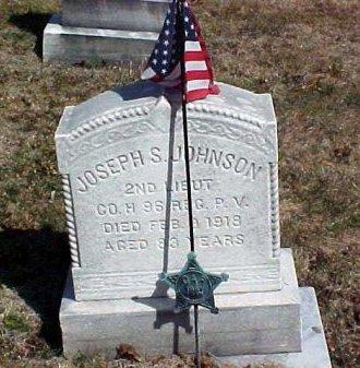 JOHNSON (CW), JOSEPH S. - Montgomery County, Pennsylvania   JOSEPH S. JOHNSON (CW) - Pennsylvania Gravestone Photos