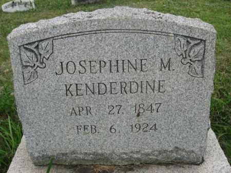 KENDERDINE, JOSEPHINE M. - Montgomery County, Pennsylvania   JOSEPHINE M. KENDERDINE - Pennsylvania Gravestone Photos