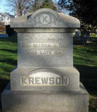 KREWSON (CW), REUBEN H. - Montgomery County, Pennsylvania | REUBEN H. KREWSON (CW) - Pennsylvania Gravestone Photos