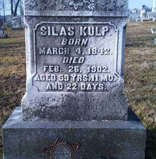 KULP (CW), SILAS - Montgomery County, Pennsylvania | SILAS KULP (CW) - Pennsylvania Gravestone Photos