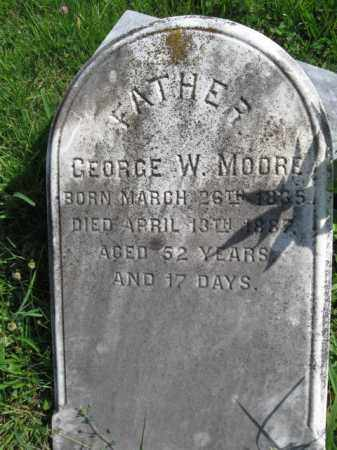 MOORE, GEORGE W. - Montgomery County, Pennsylvania | GEORGE W. MOORE - Pennsylvania Gravestone Photos
