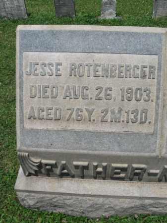 ROTENBERGER, JESSE - Montgomery County, Pennsylvania | JESSE ROTENBERGER - Pennsylvania Gravestone Photos
