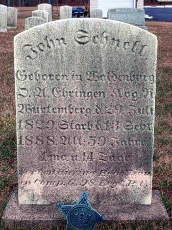 SCHNELL (CW), JOHN - Montgomery County, Pennsylvania | JOHN SCHNELL (CW) - Pennsylvania Gravestone Photos