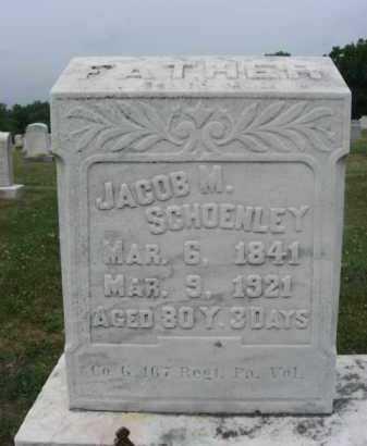 SCHOENLEY  (CW), JACOB M. - Montgomery County, Pennsylvania | JACOB M. SCHOENLEY  (CW) - Pennsylvania Gravestone Photos