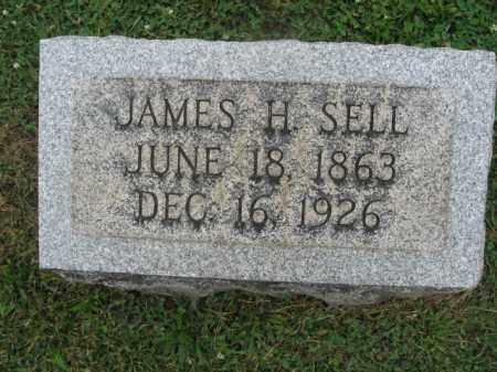SELL, JAMES H - Montgomery County, Pennsylvania | JAMES H SELL - Pennsylvania Gravestone Photos