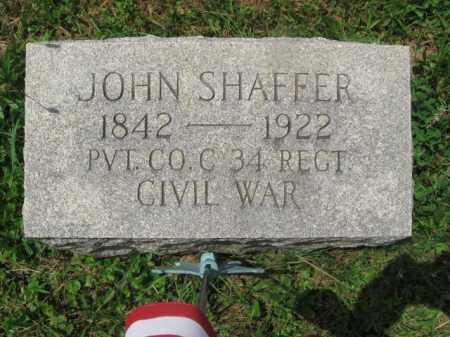 SHAFFER (CW), JOHN - Montgomery County, Pennsylvania | JOHN SHAFFER (CW) - Pennsylvania Gravestone Photos