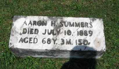 SUMMERS, AARON H. - Montgomery County, Pennsylvania   AARON H. SUMMERS - Pennsylvania Gravestone Photos