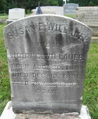 WILLAUER, SUSAN - Montgomery County, Pennsylvania | SUSAN WILLAUER - Pennsylvania Gravestone Photos