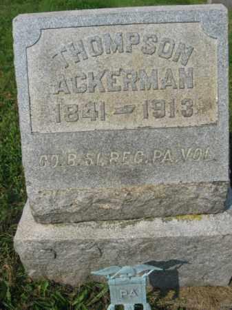 ACKERMAN, THOMPSON - Northampton County, Pennsylvania | THOMPSON ACKERMAN - Pennsylvania Gravestone Photos