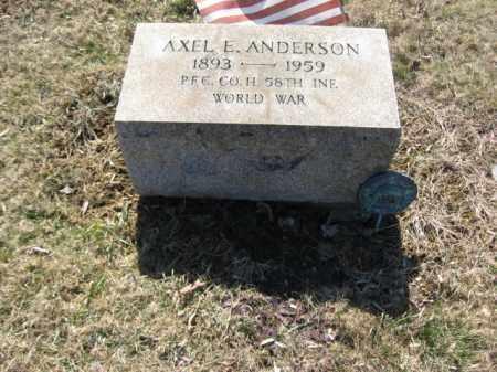 ANDERSON, AXEL E. - Northampton County, Pennsylvania | AXEL E. ANDERSON - Pennsylvania Gravestone Photos