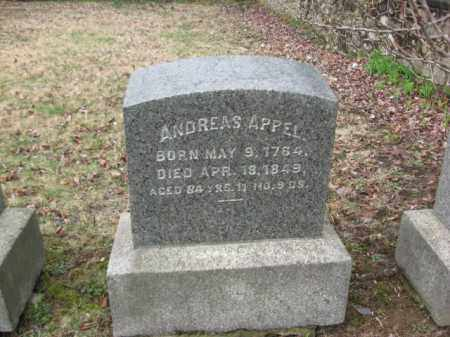 APPEL, ANDREAS - Northampton County, Pennsylvania | ANDREAS APPEL - Pennsylvania Gravestone Photos