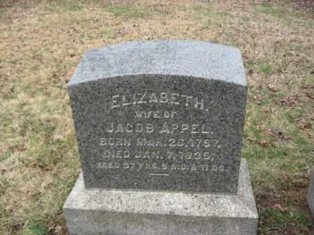 APPEL, ELIZABETH - Northampton County, Pennsylvania   ELIZABETH APPEL - Pennsylvania Gravestone Photos