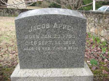 APPEL, JACOB - Northampton County, Pennsylvania   JACOB APPEL - Pennsylvania Gravestone Photos