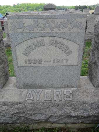 AYERS, HIRAM - Northampton County, Pennsylvania   HIRAM AYERS - Pennsylvania Gravestone Photos
