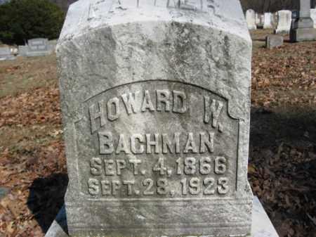 BACHMAN, HOWARD W. - Northampton County, Pennsylvania | HOWARD W. BACHMAN - Pennsylvania Gravestone Photos