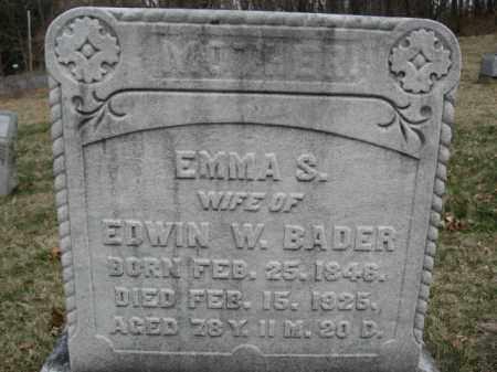 BADER, EMMA S. - Northampton County, Pennsylvania   EMMA S. BADER - Pennsylvania Gravestone Photos