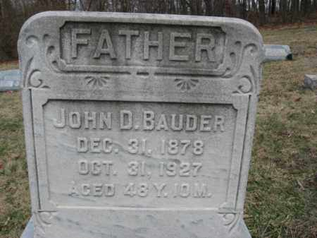 BAUDER, JOHN D. - Northampton County, Pennsylvania   JOHN D. BAUDER - Pennsylvania Gravestone Photos