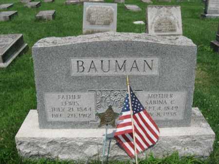 BAUMAN, SABINA - Northampton County, Pennsylvania | SABINA BAUMAN - Pennsylvania Gravestone Photos