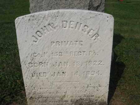 DENSER, JOHN - Northampton County, Pennsylvania | JOHN DENSER - Pennsylvania Gravestone Photos