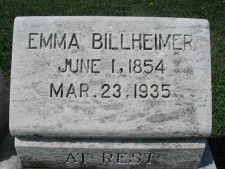BILLHEIMER, EMMA - Northampton County, Pennsylvania | EMMA BILLHEIMER - Pennsylvania Gravestone Photos