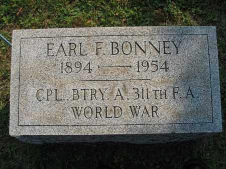 BONNEY, EARL F. - Northampton County, Pennsylvania | EARL F. BONNEY - Pennsylvania Gravestone Photos