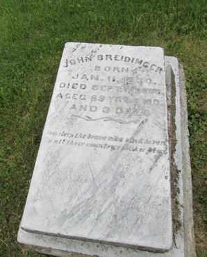 BREIDOINGER (CW), JOHN - Northampton County, Pennsylvania | JOHN BREIDOINGER (CW) - Pennsylvania Gravestone Photos
