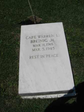 BREINIG, CAPT. WARREN L. - Northampton County, Pennsylvania | CAPT. WARREN L. BREINIG - Pennsylvania Gravestone Photos