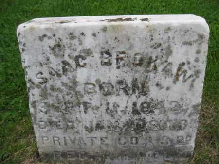 BROKAW (CW), ISAAC - Northampton County, Pennsylvania   ISAAC BROKAW (CW) - Pennsylvania Gravestone Photos