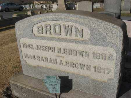 BROWN, JOSEPH H. - Northampton County, Pennsylvania | JOSEPH H. BROWN - Pennsylvania Gravestone Photos