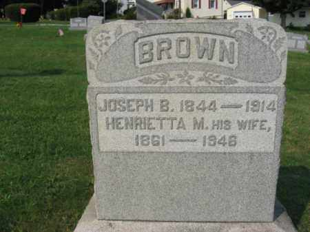 BROWN, JOSEPH B. - Northampton County, Pennsylvania | JOSEPH B. BROWN - Pennsylvania Gravestone Photos
