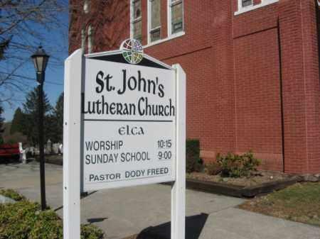 CEMETERY CHURCH SIGN, ST.JOHN'S - Northampton County, Pennsylvania   ST.JOHN'S CEMETERY CHURCH SIGN - Pennsylvania Gravestone Photos