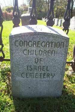 CEMETERY SIGN, CONGREGATION CHILDREN - Northampton County, Pennsylvania | CONGREGATION CHILDREN CEMETERY SIGN - Pennsylvania Gravestone Photos