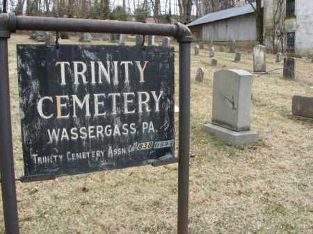 CEMETERY SIGN, TRINITY - Northampton County, Pennsylvania   TRINITY CEMETERY SIGN - Pennsylvania Gravestone Photos