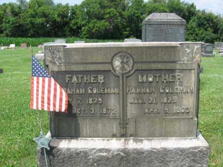 COLEMAN (CW), ABRAHAM - Northampton County, Pennsylvania   ABRAHAM COLEMAN (CW) - Pennsylvania Gravestone Photos