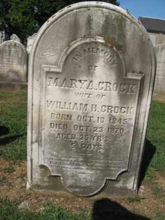 CROCK, MARY  A. - Northampton County, Pennsylvania | MARY  A. CROCK - Pennsylvania Gravestone Photos