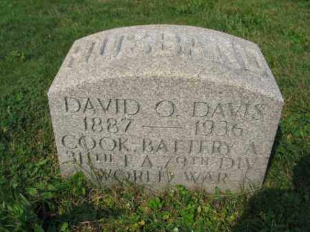 DAVIS, DAVID O. - Northampton County, Pennsylvania | DAVID O. DAVIS - Pennsylvania Gravestone Photos