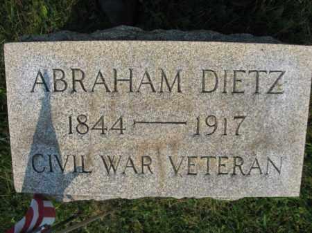 DIETZ (CW), ABRAHAM - Northampton County, Pennsylvania | ABRAHAM DIETZ (CW) - Pennsylvania Gravestone Photos