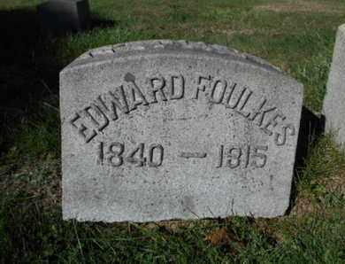 FOULKES, EDWARD - Northampton County, Pennsylvania | EDWARD FOULKES - Pennsylvania Gravestone Photos