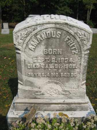 FRITZ, AMANDUS - Northampton County, Pennsylvania | AMANDUS FRITZ - Pennsylvania Gravestone Photos