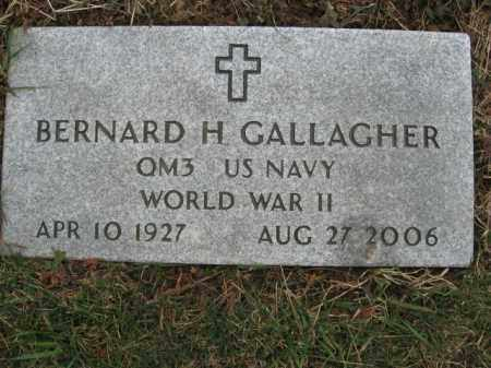 GALLAGHER, BERNARD H. - Northampton County, Pennsylvania | BERNARD H. GALLAGHER - Pennsylvania Gravestone Photos