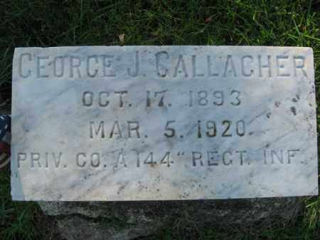 GALLAGHER, GEORGE J. - Northampton County, Pennsylvania | GEORGE J. GALLAGHER - Pennsylvania Gravestone Photos
