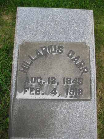 GARR, HILLARIUS - Northampton County, Pennsylvania   HILLARIUS GARR - Pennsylvania Gravestone Photos