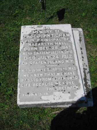 GRAM, JOHN  T. - Northampton County, Pennsylvania | JOHN  T. GRAM - Pennsylvania Gravestone Photos