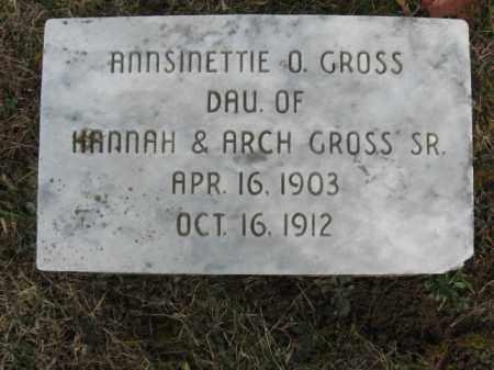 GROSS, ANNSINETTE O. - Northampton County, Pennsylvania   ANNSINETTE O. GROSS - Pennsylvania Gravestone Photos