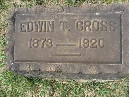 GROSS, EDWIN T. - Northampton County, Pennsylvania   EDWIN T. GROSS - Pennsylvania Gravestone Photos