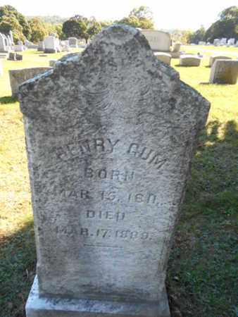 GUM, HENRY - Northampton County, Pennsylvania | HENRY GUM - Pennsylvania Gravestone Photos