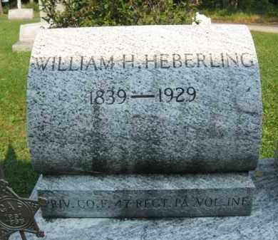 HEBERLING (CW), WILLIAM H. - Northampton County, Pennsylvania | WILLIAM H. HEBERLING (CW) - Pennsylvania Gravestone Photos