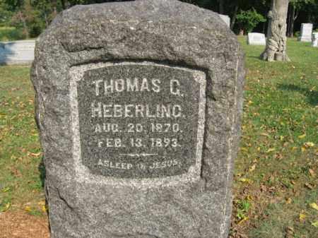 HEBERLING, THOMAS G. - Northampton County, Pennsylvania   THOMAS G. HEBERLING - Pennsylvania Gravestone Photos