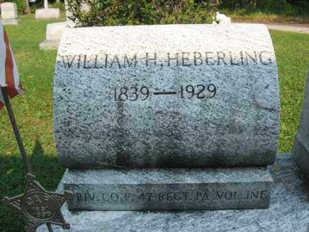 HEBERLING, WILLIAM H. - Northampton County, Pennsylvania | WILLIAM H. HEBERLING - Pennsylvania Gravestone Photos