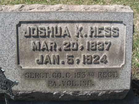 HESS (CW), SERGT.JOSHUA K. - Northampton County, Pennsylvania   SERGT.JOSHUA K. HESS (CW) - Pennsylvania Gravestone Photos